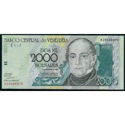 Venezuela 2000 Bolívares PK 80 (29-10-1.998) S/C