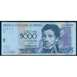 Venezuela 5.000 Bolívares PK 84b (13-8-2002) S/C