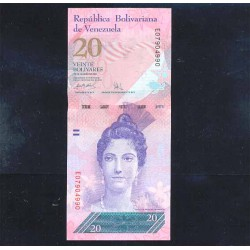 Venezuela 20 Bolívares PK 91a (20-3-2007) S/C