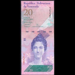 Venezuela 20 Bolívares PK 91b (24-5-2.007) S/C