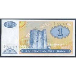 Azerbaiyán 1 Manat PK 14 (1.993) S/C