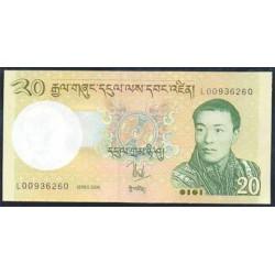 Bután 20 Ngultrum PK 30 (2.006) S/C