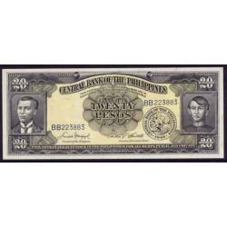 Filipinas 20 Pesos PK 137d (1.949) S/C