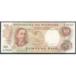 Filipinas 10 Piso PK 144a (1.969) S/C