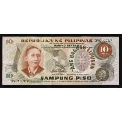 Filipinas 10 Piso PK 154 S/C