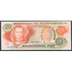 Filipinas 20 Piso PK 155 (1.970) S/C
