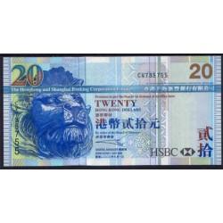 Hong Kong 20 Dólares PK 207 (1-7-2.003) S/C