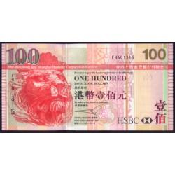 Hong Kong 100 Dólares PK 209b (1-1-2.005) S/C