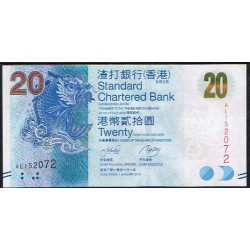 Hong Kong 20 Dólares PK 297 (1-1-2.010) S/C