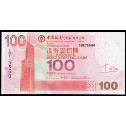 Hong Kong 100 Dólares PK 337b (1-1-2.005) S/C