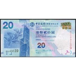Hong Kong 20 Dólares PK 341 (1-1-2.010) S/C