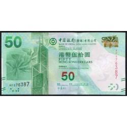 Hong Kong 50 Dólares PK 342 (1-1-2.010) Bank of China S/C