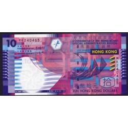 Hong Kong 10 Dólares PK 400 (1-7-2.002) S/C