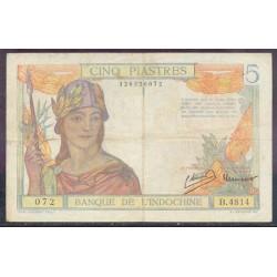 Indochina Francesa 5 Piastras PK 55c (1.946) MBC