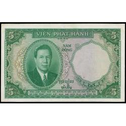 Indochina Francesa 5 Piastras-5 Dong PK 106 (1.953) MBC+