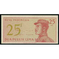 Indonesia 25 Sen PK 93 (1964) S/C