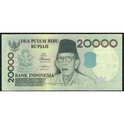 Indonesia 20.000 Rupias PK 138f (1.998/2.003) S/C