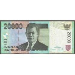 Indonesia 20.000 Rupias PK 144h (2.012) S/C