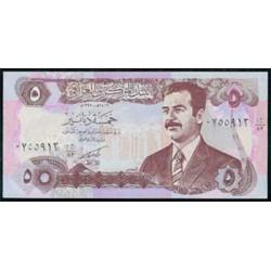Iraq 5 Dinares PK 80c (1992) S/C