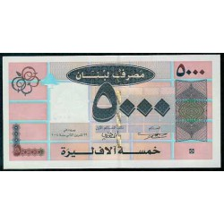 Líbano 5.000 Libras PK 85 (2.004) S/C