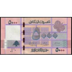 Líbano 5.000 Libras PK 91 (2.013) S/C