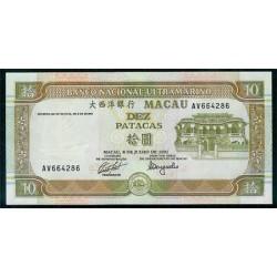 Macao 10 Patacas PK 65 (8-7-1.991) S/C