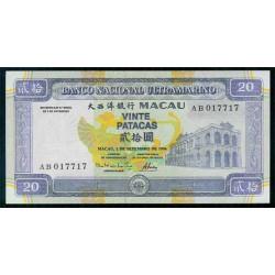 Macao 20 Patacas PK 66 (1-9-1.996) S/C