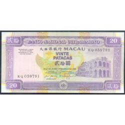 Macao 20 Patacas PK 71 (20-12-1.999) S/C
