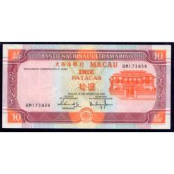 Macao 10 Patacas PK 77 (8-6-2.003) S/C