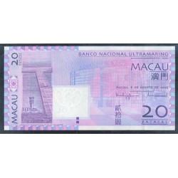 Macao 20 Patacas PK 81 (08-08-2.005) S/C