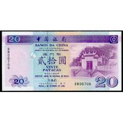 Macao 20 Patacas PK 91 (1-9-1.996) S/C