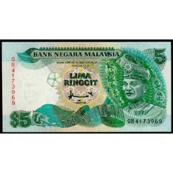 Malasia 5 Ringgit Pk 35 (1.995) S/C