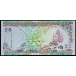 Maldivas 20 Rufiyaa Pk 20a (2.000) S/C