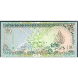 Maldivas 100 Rufiyaa Pk 22b (2.000) S/C
