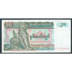 Myanmar 20 Kyat Pk 72 (1.994) S/C