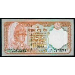 Nepal 20 Rupias PK 38b ( 1.988 ) S/C