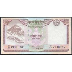 Nepal 10 Rupias PK 61 (2.008) S/C
