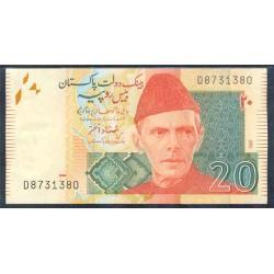 Pakistán 20 Rupias Pk 46c (2.007) S/C