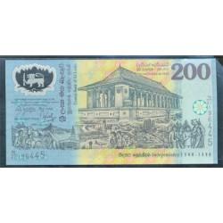 Sri Lanka 200 Rupias Pk 114b (4-2-1.998) S/C