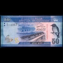 Sri Lanka 50 Rupias Pk 124 (1-1-2.010) S/C