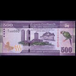 Sri Lanka 500 Rupias Pk 126 (1-1-2.010) S/C