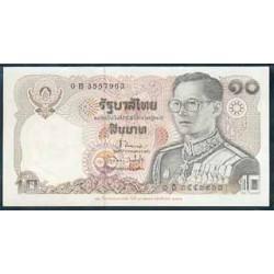 Tailandia 10 Baht Pk 87 (1980) S/C