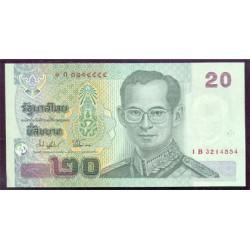 Tailandia 20 Baht Pk 109 (2.002). Firma 74 S/C