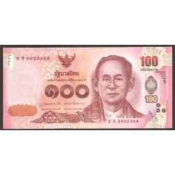 Tailandia 100 Baht Pk Nuevo (2.014) S/C
