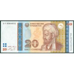 Tayikistán 20 Somoni PK 17 (1.999) S/C