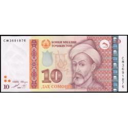 Tayikistán 10 Somoni PK 24 (1.999/2.013) S/C