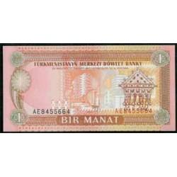 Turkmenistán 1 Manat Pk 1 (1.993) S/C