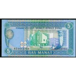 Turkmenistán 5 Manat PK 2 (1.993) S/C