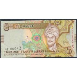 Turkmenistán 5 Manat Pk 23 (2.009) S/C