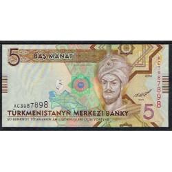 Turkmenistán 5 Manat Pk 30 (2.012) S/C